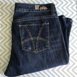 Kut KFTK sz 12 Farrah baby bootcut jeans medium